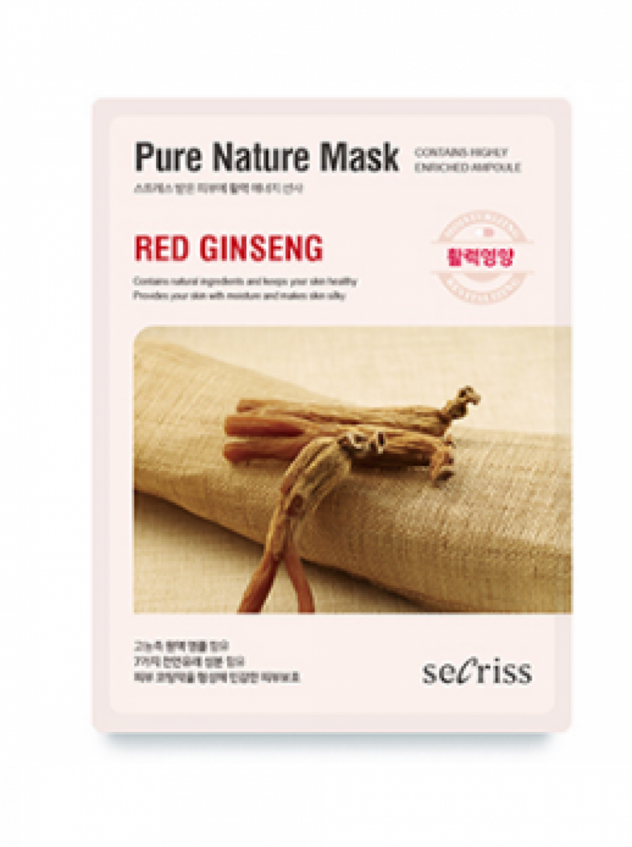 Маска для лица SECRISS Pure Natural Mask Red Ginseng