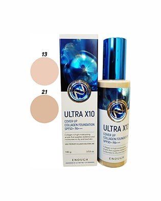 Тональная основа ENOUGH Ultra X10 Full Cover Up Collagen Foundation