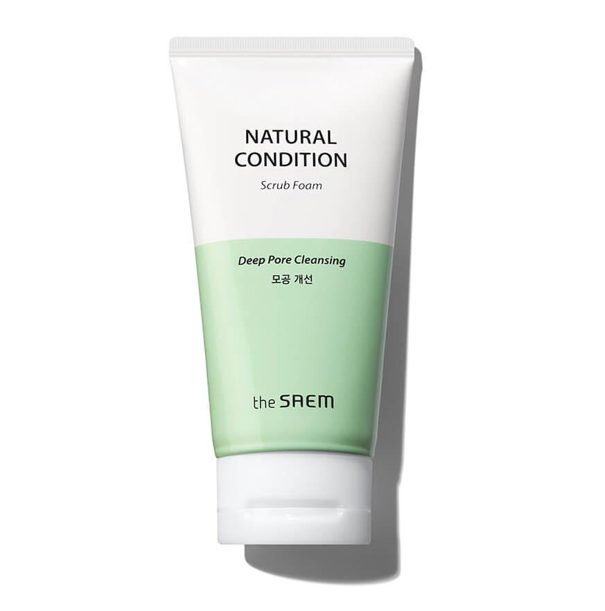 Пенка-скраб для умывания THE SAEM Natural Condition Deep Pore Cleansing Scrub Foam