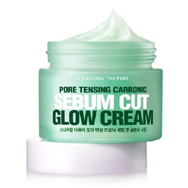 Крем для лица SO NATURAL Pore Tensing Carbonic Sebum Cut Glow Cream