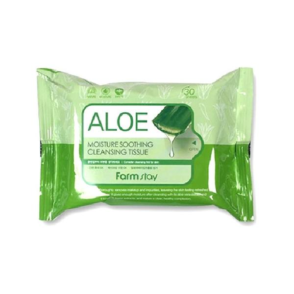Влажные салфетки FARMSTAY Aloe Moisture Soothing Cleansing Tissue