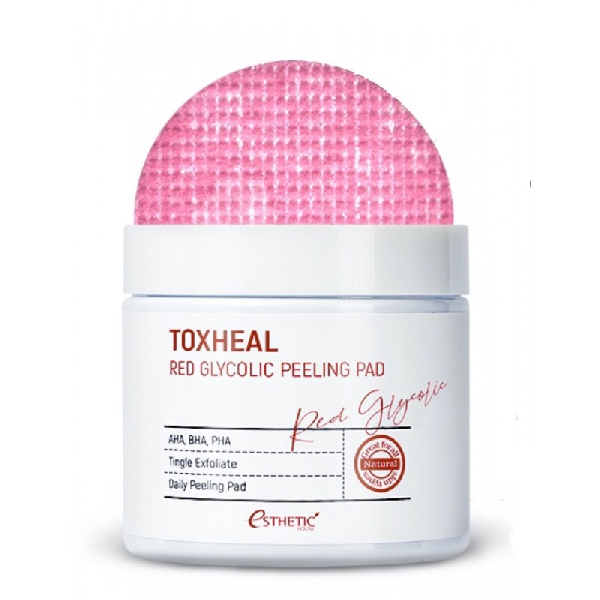 Пилинг-пэды для лица ESTHETIC HOUSE Toxheal Red Glycolic Peeling Pad