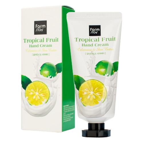 Крем для рук FARMSTAY Tropical Fruit Hand Cream Calamansi & Shea Butter