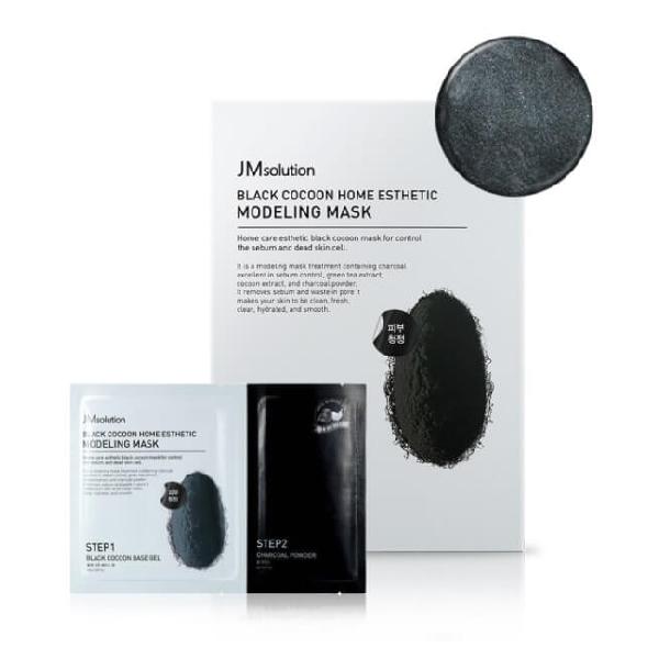 Маска для лица альгинатная JM SOLUTION Black Cocoon Home Esthetic Modeling Mask