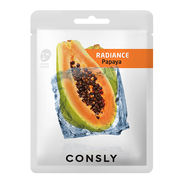 Маска тканевая CONSLY Papaya Radiance Mask Pack