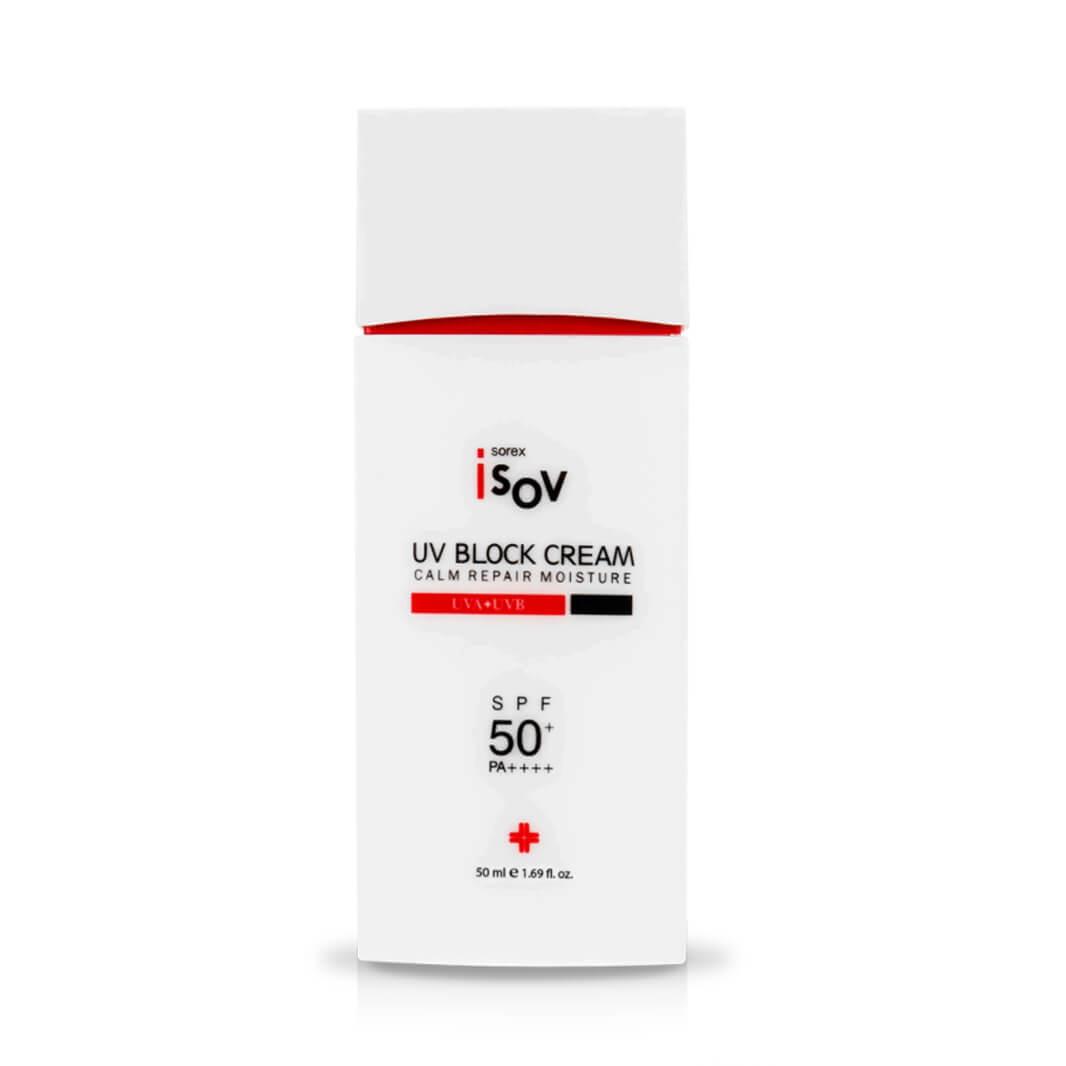 Солнцезащитный крем SOREX ISOV UV Block Cream Calm Repair Moisture SPF 50+ PA++++