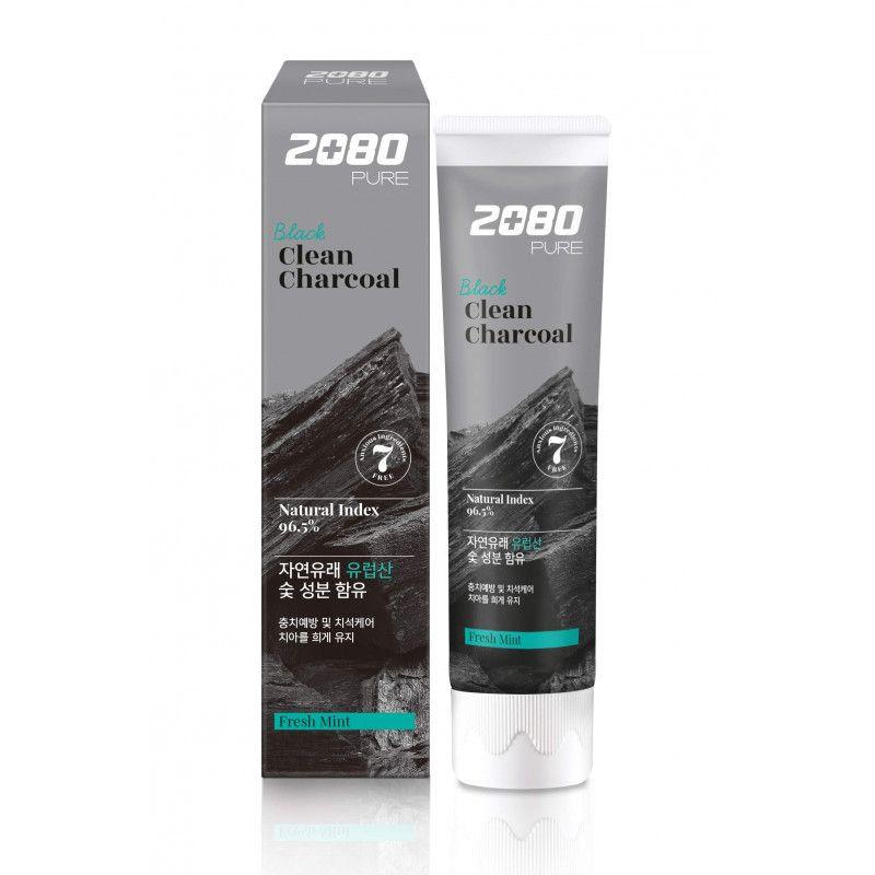 Зубная паста DENTAL CLINIC 2080 Pure Black Clean Charcoal Fresh Mint
