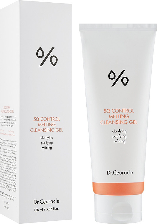 Гель для умывания для проблемной кожи DR. CEURACLE 5α Control Melting Cleansing Gel