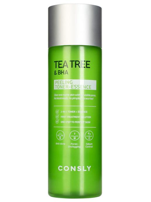 Тонер-эссенция для лица CONSLY Tea Tree & BHA Peeling Toner-Essence