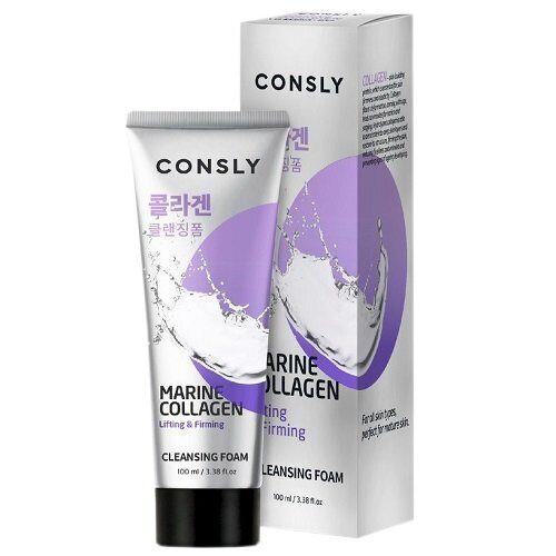Пенка для умывания CONSLY Marine Collagen Lifting Creamy Cleansing Foam