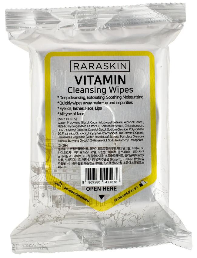 Очищающие салфетки RARASKIN Cleansing Wipes Vitamin