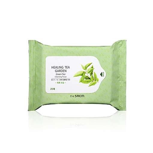 Салфетки для лица THE SAEM Healing Tea Garden Green Tea Cleansing Tissue
